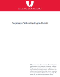 Corporate Volunteering Russia Report